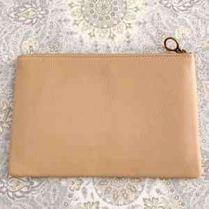 NWT Madewell - The Leather Pouch Clutch, Linen